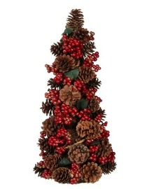 1.5ft pre decorated ine cone tree at B&Q
